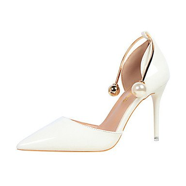 zhENfu Women's Heels Spring / Summer / Fall / Winter Gladiator / Comfort / Novelty Leatherette Wedding / Party & Evening / Dress / Casual White