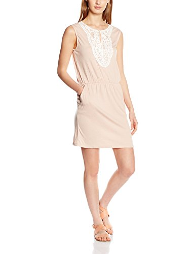 VERO MODA Damen Kleid Vmmatea SL Crochet Short Dress, Rosa (Rose Dust Detail:Melange), 38 (Herstellergröße: M)