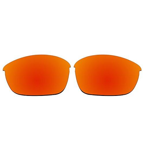 Acompatible Ersatzgläser für Oakley Half Jacket 2.0 Sonnenbrille OO9144, Fire Red Mirror - Polarized, S