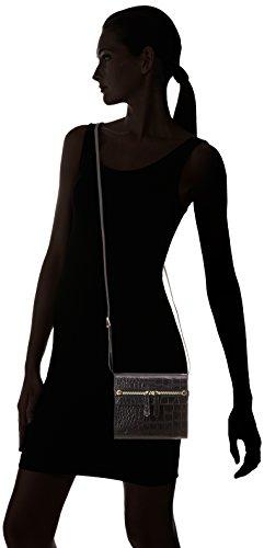 La Bagagerie Vic Mini, Sac bandoulière Noir (Noir Croco)