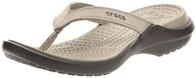 Crocs Capri IV, Damen Durchgängies Plateau Ballerinas, Braun (Mushroom/Espresso 13B), 36/37 EU