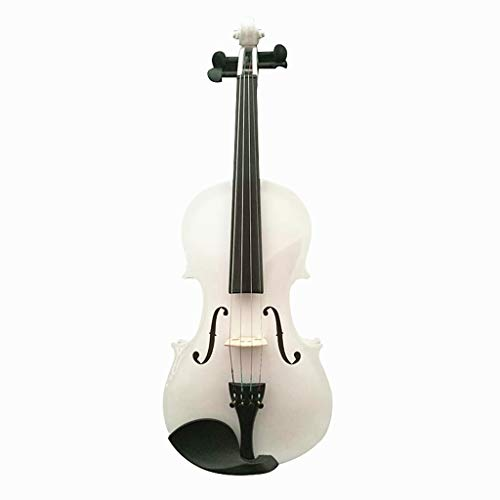 Violini Strumenti a Corda Acero Bianco Strumento Studente principiante in Pratica Accessorio Completo Commercio Equo e Solidale (Color : 4/4)