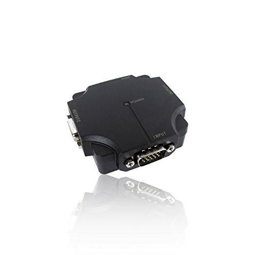 2-wege Vga Svga Splitter (CDL Micro 2Port/Wege Kompakt 500MHz SVGA VGA Splitter Box erhöht Signal-Schwarz)