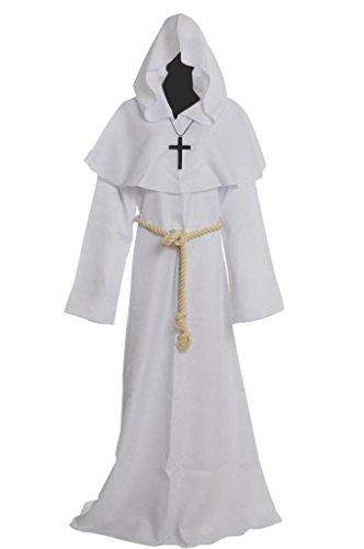 Preisvergleich Produktbild Mönch Robe Prister Gewand Kostüm Medieval Hooded Monk Costume Fancy Dress Priest Robe