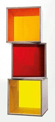 iCube das Regal mit bunten Plexiglasscheiben 3er Set in PREMIUM QUALITÄT