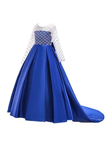 Zhhlinyuan Frühling Herbst Halloweenkostüm Urlaub Prinzessinenkleid Kostüm Cosplay Kleid für Mädchen Alter 3-8, Baumwolle