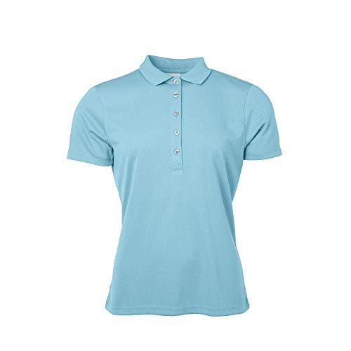 James & Nicholson - Damen Polo aus Funktions-Polyester für Promotion, Sport und Freizeit (XL, pacific)