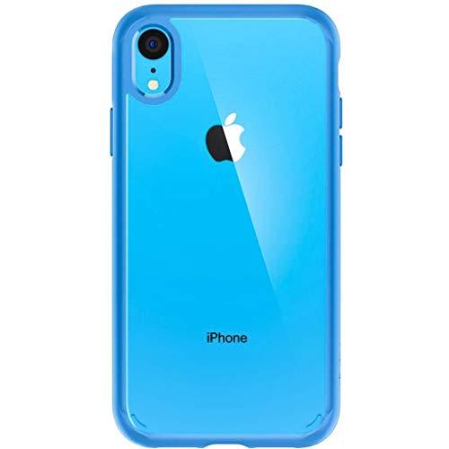 Spigen Ultra Hybrid, Kompatibel mit iPhone XR Hülle, 064CS25347 Einteilige Transparent PC Rückschale Handyhülle Schutzhülle Case (Blau) -