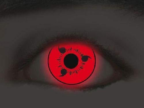 KAWAEYES OFFICIAL Kontaktlinsen Naruto Sharingan Sasuke Rosse Fluo Red MITSU Tomoe Cosplay #1