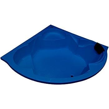 MADONNA Ambassador Acrylic 5 feet Corner Bathtub for Adults - Alpine Blue
