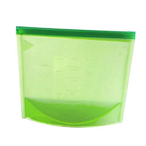 HomeDecTime Food Bag Pouch Wiederverwendbare Gefrierschrank Obst Snack Storage Seal Verpackungsorganisator - 500 ml