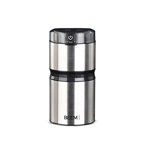BEEM Kaffeemühle 1210SR - Elements of Coffee & Tea, elektrisch, 150 W, Kapazität für bis zu 60 g Kaffeebohnen, Flachklingenmahlwerk, Edelstahl (auch für Nüsse, Getreide und Gewürze)