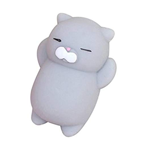 Hehilark Lovely Cartoon Cat Squishy Toy Alivio del estrés Soft Mini Animal Squeeze Toy Descompresión Curación Toy Gran Regalo