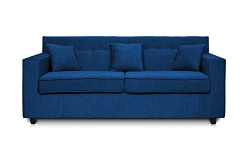 Beanbagwala Solitaire Fabric 2 Seater Sofa Set-Nevy