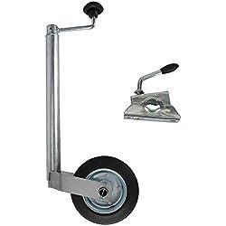 AllRight Roue Jockey Pneumatique Collier de Serrage pour Remorque ou Caravane Pliable