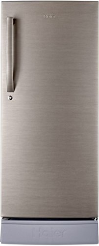 Haier 195 L 4 Star Direct-Cool Single Door Refrigerator (HRD-1954PBS-R, Brushed Silver)