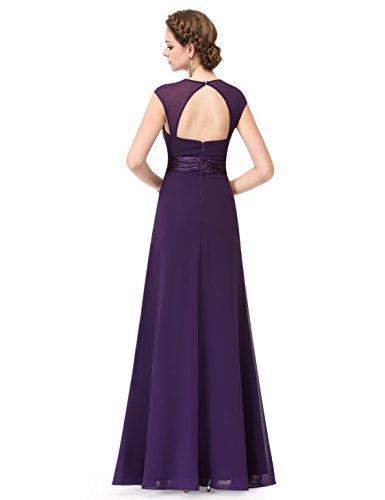 Ever Pretty Robe de Soirée Robe de la Demoisellle d'honneur Empire 08834 Violet foncé
