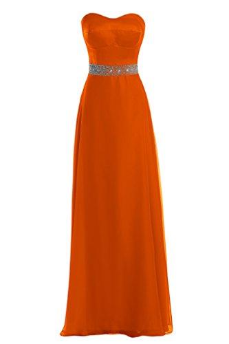 Toscana sposa Modern a forma di cuore Chiffon Satin un'ampia Party ball serata vestimento per vestiti Arancione