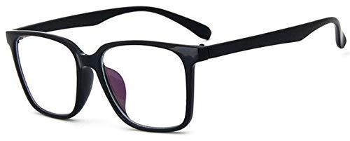 SNXIHES Sonnenbrillen Mode Frauen Brillengestell Männer Schwarz Brillengestell Vintage Quadrat Klare Linse Brillen Optische Brillengestell 7