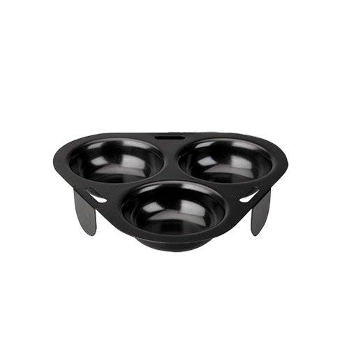IBILI 825603 Pocheuse à Œuf, Aluminium, Noir, 24 x 19 x 3 cm