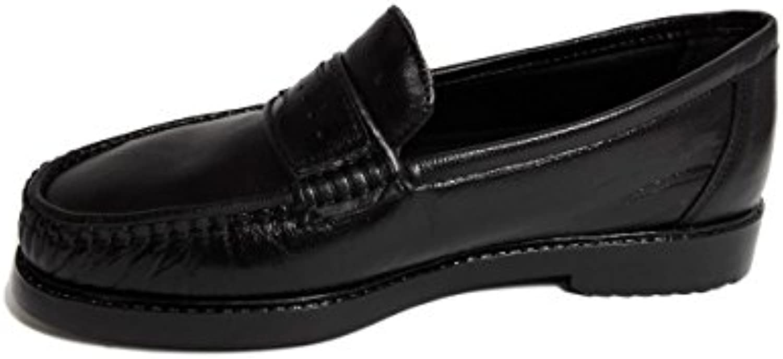 Carrús-Zapato de hombre en piel -Negro-Clasico