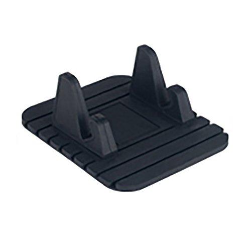 Matedepreso Universal Autohalterung drehbar weichem Silikon Anti-Rutsch-Matte Handyhalterung Ständer Halterung Unterstützung für # 0129(Schwarz)