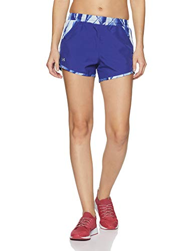 Under Armour Damen Fly by Printed Short Kurze Hose, Formation Blue, SM
