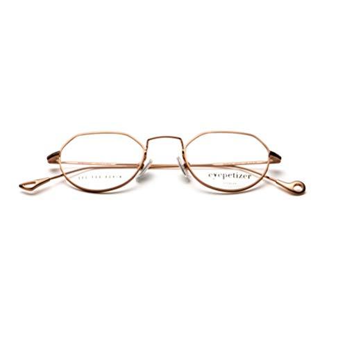 Eyepetizer occhiali da vista modello marcel colore c.9, montatura in metallo color oro rosa, lente a forma geometrica e comodi naselli, stile unisex