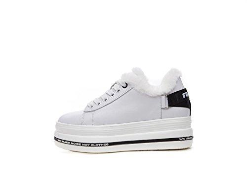 SpongeBob scarpe con suole spesse scarpe studenti coreano caldo e aggiungere il cashmere scarpe invernali White black