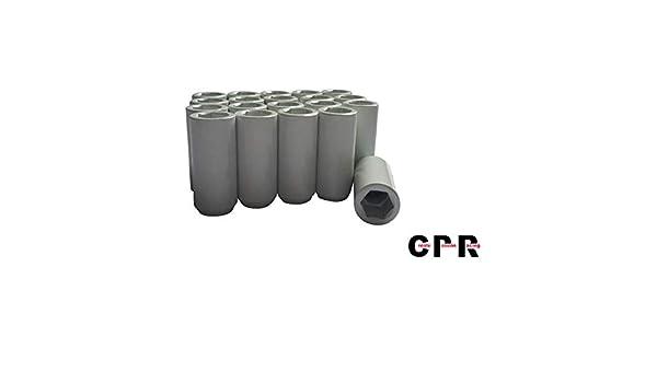 M12 x 1,25 Stahl Titan gebranntes Blau RPC CPR Radmuttern mit offenem Ende 20 St/ück 17 Sechskant