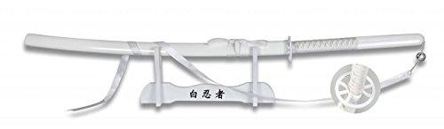 (Tole 10 Imperial Schwert Katana White Ninja weiß mit Holzständer)