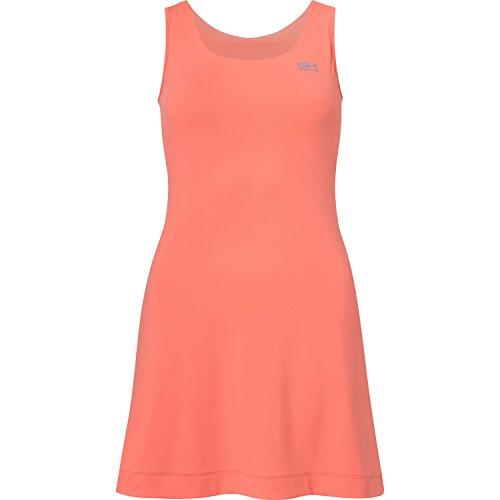 Sportkind Mädchen & Damen Tennis / Hockey / Golf Trägerkleid, neon orange, Gr. 146