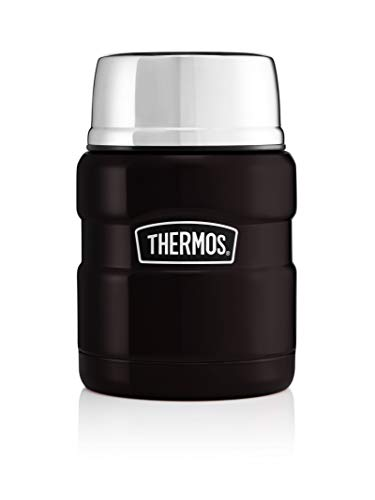 Picture of Thermos Stainless King Food Flask, Matte Black, 470 ml