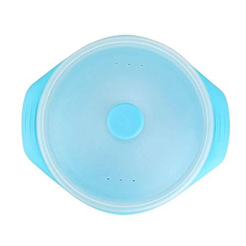 farmer-w Steamer Horno de microondas Material de Grado alimenticio vaporizador de Alta Temperatura fácil de Limpiar vaporizador de Silicona Utensilios de Cocina de Vapor