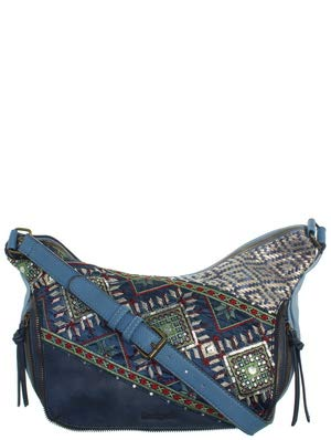 Desigual Damen Umhängetasche Almira Exotic Somalia Jeans Basic