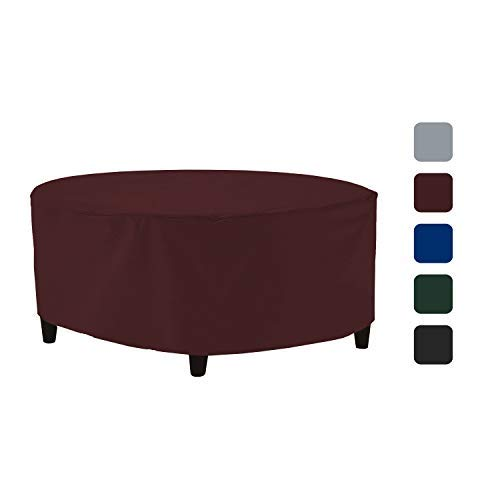 Outdoor Ottoman Cover 18 Oz - Waterproof & Weather Resistant Patio Furniture Covers - Square Ottoman Cover Heavy Duty Fabric with Drawstring for Snug fit (50\