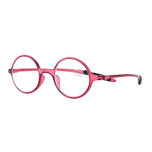 Axclg Reading glasses Lupe Anti Blue Light Brille, Klassische kleine runde Rahmen Vintage-Mode, Computer Lesebrille, optische Brillen, für Herren/Damen