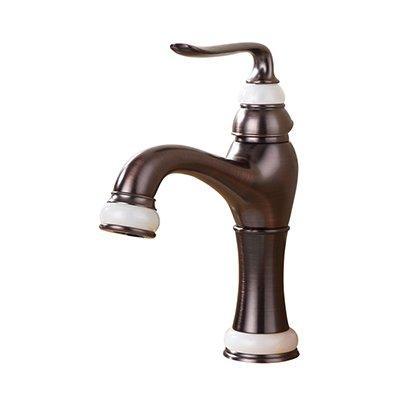 Retro Deluxe Fauceting fashion hochwertige Rose Gold fertigen Warenkorb kalte und warme Einhebelsteuerung, Waschbecken Armatur Waschtisch Armatur geschnitzt, Messing, Stil 1