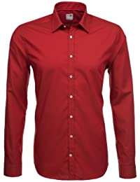 Seidensticker Hemd Schwarze Rose Slim Fit rot strukturiert / 227164.69