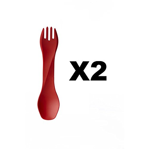 humangear-gobites-uno-utensil-fork-and-spoon-bpa-free-camping-tool-red-2-pack