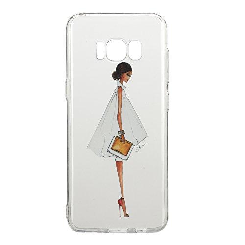 Galaxy S8 hülle,Samsung S8 Case, Cozy Hut Kratzfeste Plating TPU Silicone Case Schutzhülle Ultra Dünn Tasche für mit Samsung Galaxy S8 Hülle Case Transparent - Mode Frau
