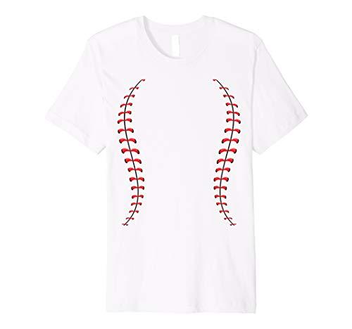 Softball Baseball Dad Mom Funny Halloween Costume T-Shirt