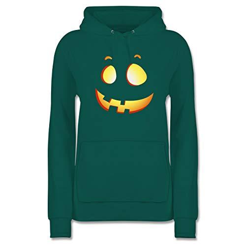 Shirtracer Halloween - süßer Halloween-Kuerbis Kinder - XS - Türkis - JH001F - Damen Hoodie (Halloween-kürbis 2019 Ideen)
