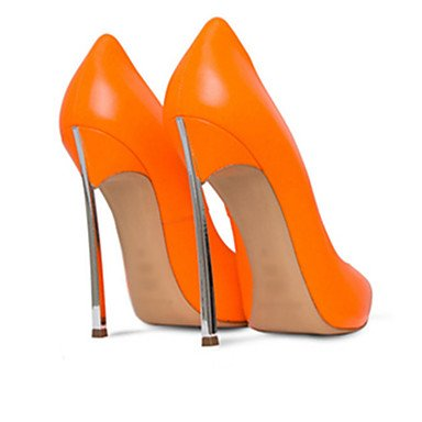 Da donna-Tacchi-Ufficio e lavoro Casual Serata e festaA stiletto-Finta pelle-Nero Giallo Rosso Bianco Beige Arancione Carne Rosa Orange