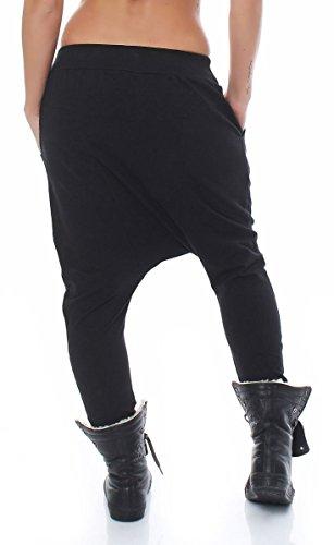 malito Damen Haremshose mit tiefem Schnitt   Hose mit Knopfleiste   Baggy zum Tanzen   Sweatpants