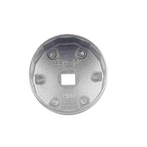 Preisvergleich Produktbild Hotaluyt Aluminium 65mm Cap Ölfilterschlüssel Sockel-Remover-Werkzeug 14 Flöten Ersatz für Honda Toyota A8 AP