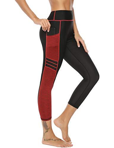 Sykooria Damen Yoga Leggings Sporthosen Frauen Strech High Waist Elastische Atmungsaktiv Workout Gym Wandern Strumpfhose S -