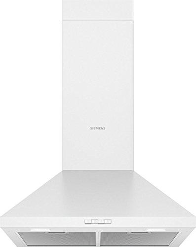 Siemens LC64PBC20 Dunstabzugshaube/Wandhaube / 60 cm/Lüfterleistung/Metall-Fettfilter/Weiß