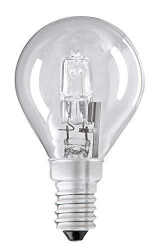 Eco-Halogen-Glühbirne, 18 W, G45 (SES), kleine Edison-Schraube, E14, dimmbar, Golfball/Mini-Globe, 18 W = 28 W, 2000 Stunden lange Lebensdauer, 205 Lumen, 3 Leuchtmittel + 1 gratis