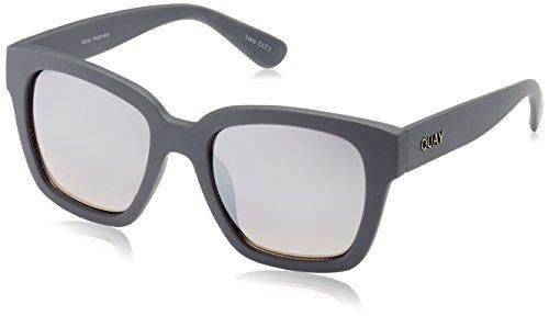 Quay Eyewear Australia Damen Katzenauge Sonnenbrille, Einheitsgröße, Grau (Grau/Silber)